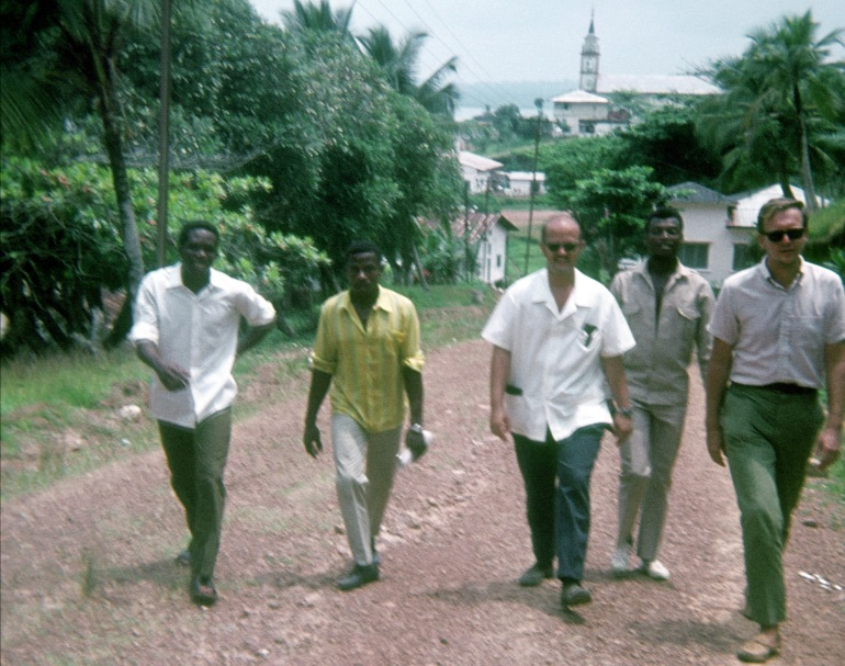 Vaccination team in the field, Rio Muni, Equatorial Guinea, 1971