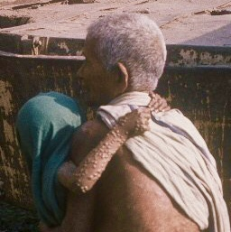 Bangladesh, grandmother carrying baby with smallpox, 1975